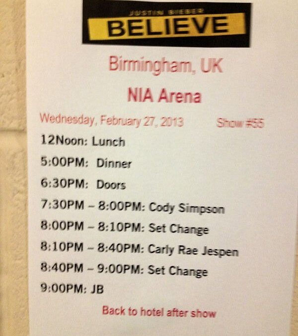 Justin Bieber – NIA Birmingham 2013